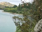 View looking down Clutha River from property