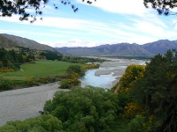 Magnificent Waiau River near Hanmer Springs