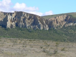 Clay cliffs at Omarama