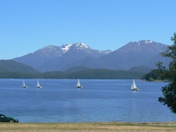 Yachts on Lake Te Anau